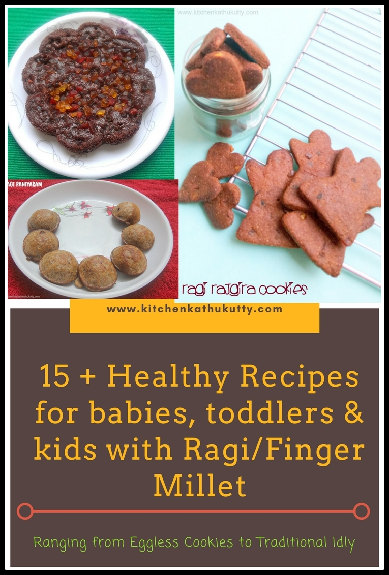 Ragi Recipes For babies ,Toddlers and Kids|Finger Millet/Kezhvaragu/Nachini Recipes