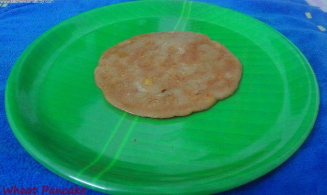 eggless whole wheat pancake