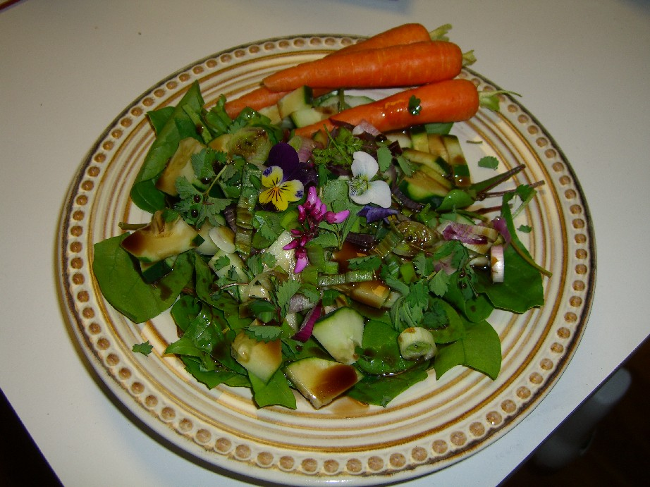 Early Spring Salad with Honey Balsamic Vinaigrette