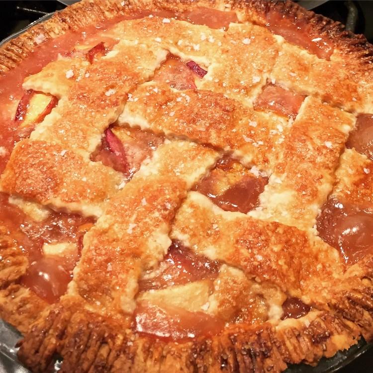 Sweet & Salty Bourbon Peach Pie Recipe