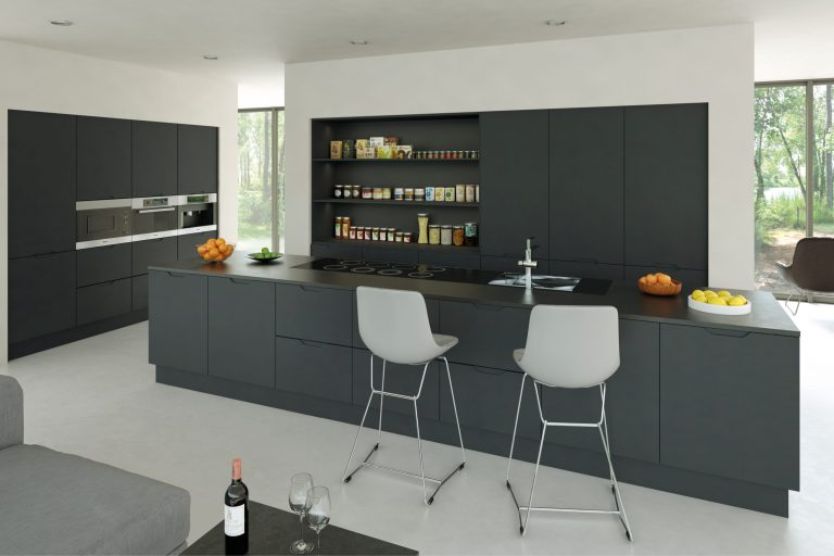 Matt Graphite Integra Kitchen scaled