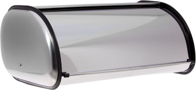 large stainless steel bread box