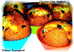 %Chocolate Chip Muffins Recipe Indian