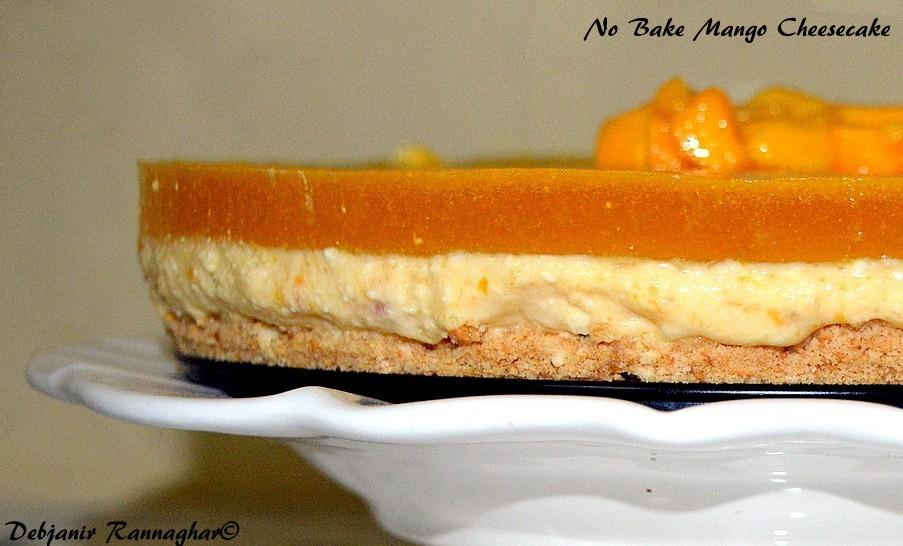 No Bake Mango Cheesecake with Paneer | Mango Cheesecake