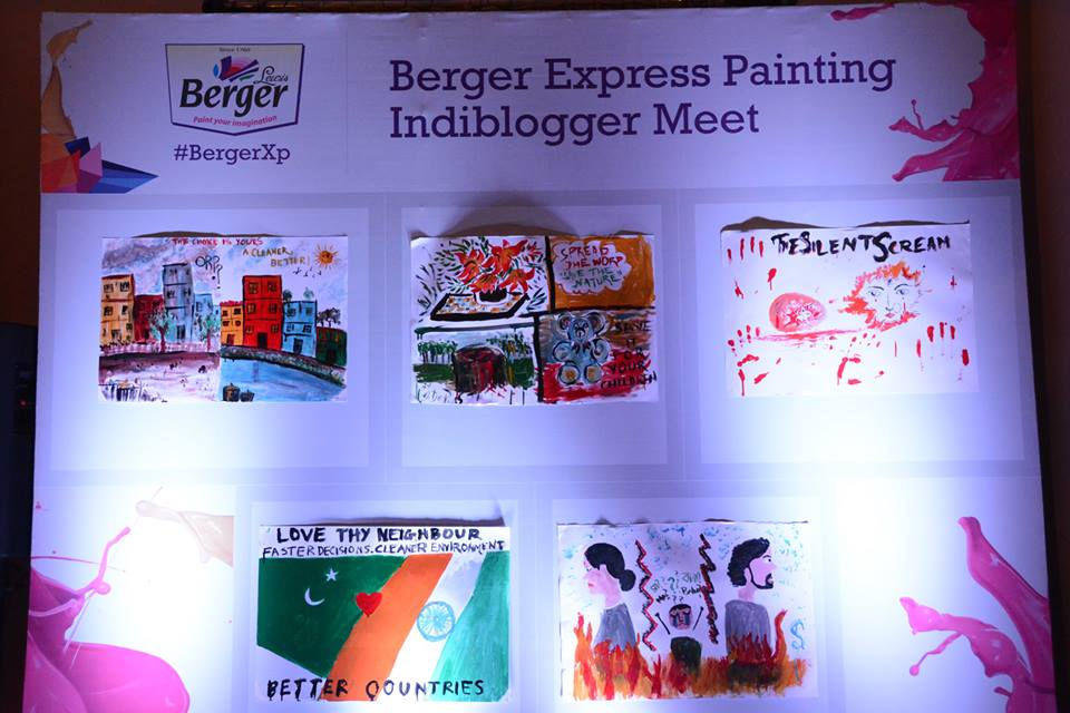 A Colorful Evening with the #Indiblogger Pals at #BergerXp Kolkata Meet!