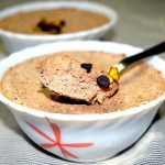 Eggless Chocolate and Pistachio Mousse
