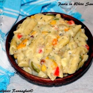 Easy Pasta In White Sauce Indian Recipe