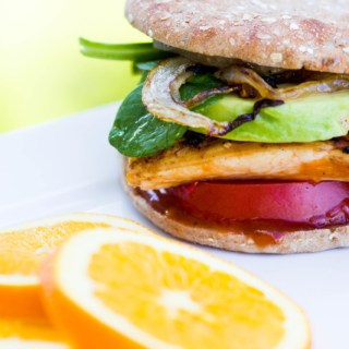 Grilled Chicken Sandwiches with Homemade Honey Orange BBQ Sauce