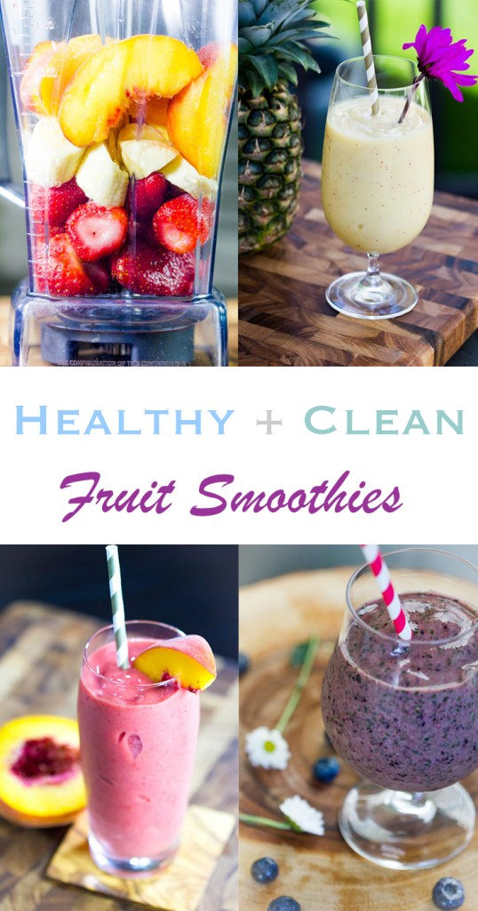 Clean Ingredient and all fruit smoothie recipes. Dairy free, gluten free, healthy, refreshing and delicious!