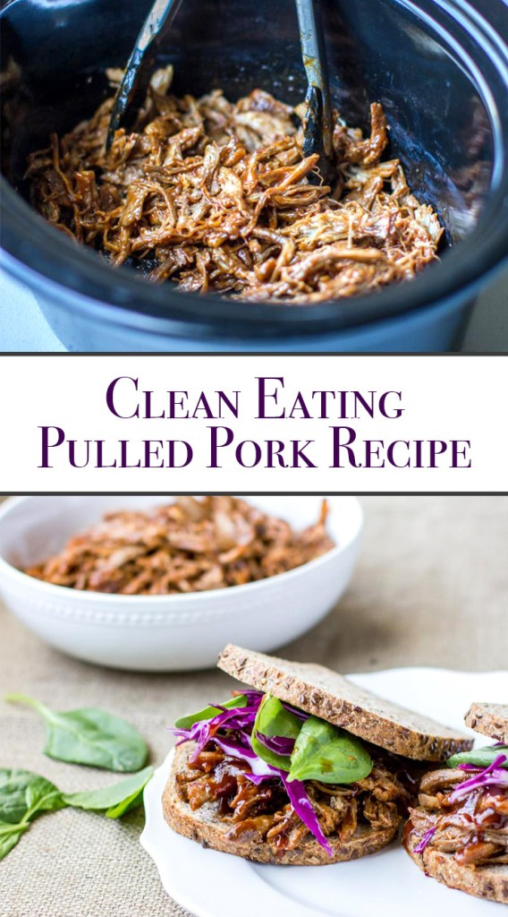 Crock Pot Pulled Pork Recipe for tacos, salads, sandwiches or as an entree. This recipe delicious with or without BBQ sauce, and it has the perfect flavor combination of spice, sweetness & garlic.