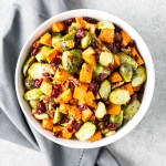 Oven Baked Brussel Sprouts with Sweet Potato