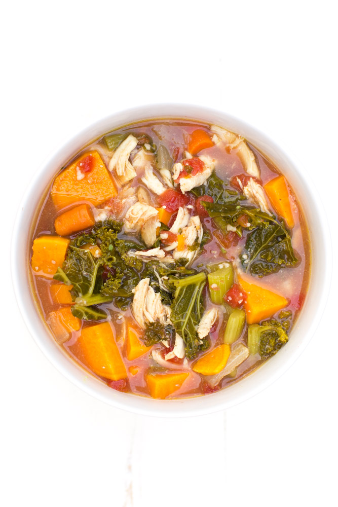 Hearty, healthy, delicious chicken bone broth soup recipe to warm your cozy nights, boost healing, and help get your digestion back on track.