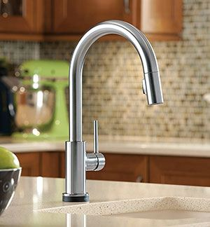 Excellent Design to Give a Contemporary Look- Delta Trinsic 9159T-AR-DST Kitchen Faucet