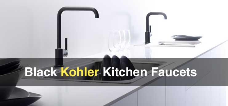 Black Kohler Kitchen Faucets