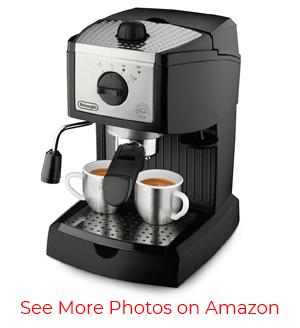 The DeLonghi EC155 – Best Cheap Espresso Machine in Our List