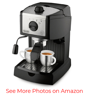 The DeLonghi EC155 – Best Cheap Espresso Machine in Our List