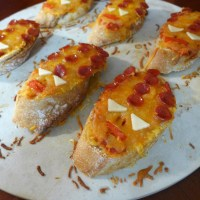 Cheap Whovian Eats - Zygon French Bread Pizza Heads
