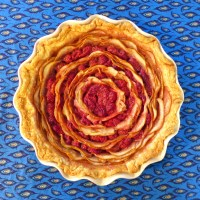 Bullseye Pear and Raspberry Pie