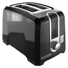 BLACK+DECKER 2-Slice Extra-Wide Slot Toaster, Square