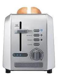 Chefman 2-Slice Stainless Steel Wide Slot Toaster Defrost