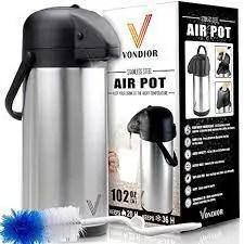 Coffee Carafe Thermos - Thermal Beverage Dispenser (102 oz.) By Vondior