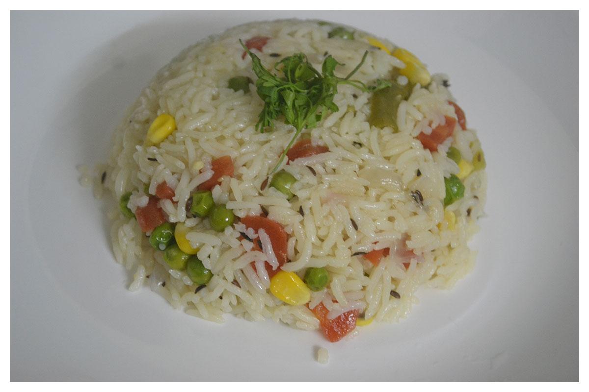 Eat the Rainbow, healthy vegetable pulao