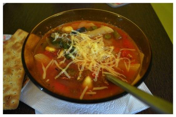 vegetarian minestrone soup, vegan