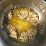 Making a tart with Biscuits and butter