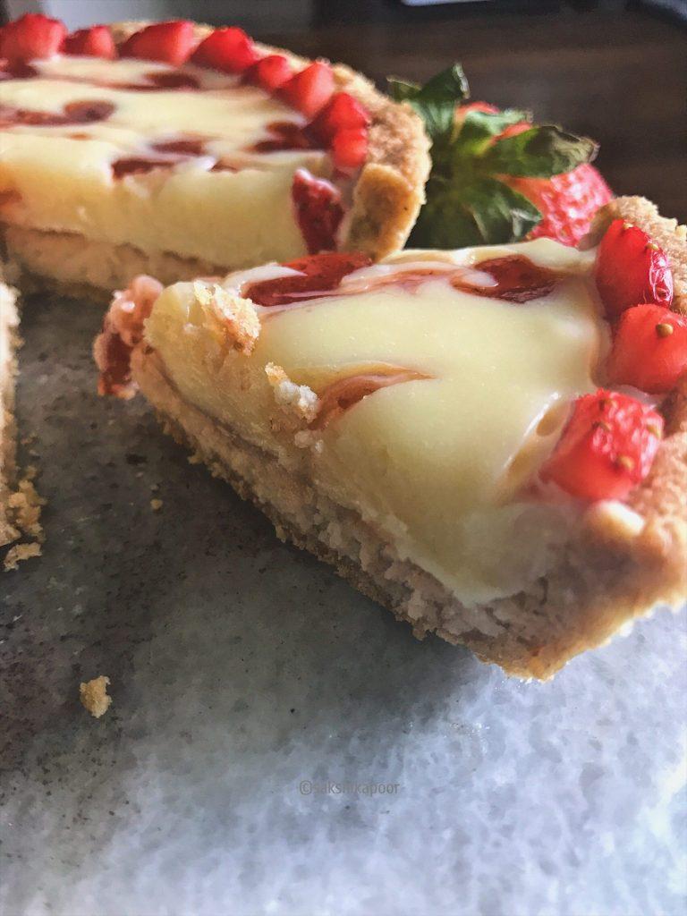 Strawberry & White Chocolate Ganache Tart