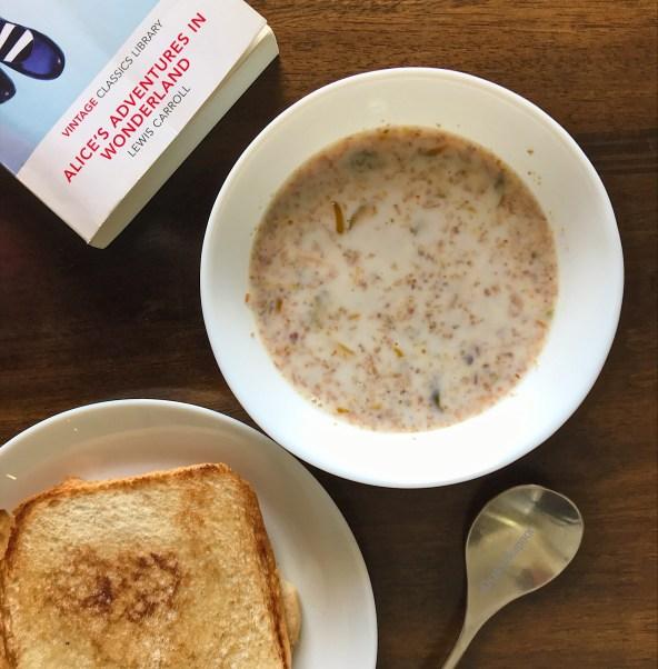 Bulgur Porridge with toasted coconut recipe