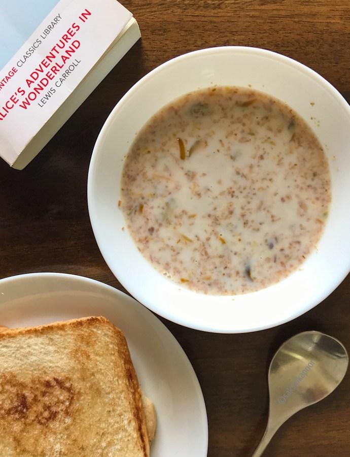 Bulgur Porridge with Toasted coconut