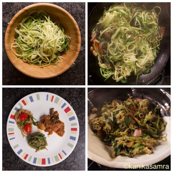 Vegetable pasta.