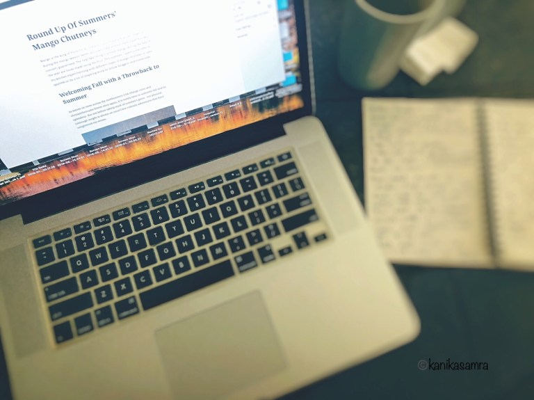Writing at the desk