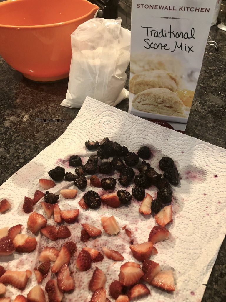Fruits for Stonewall Kitchen Scone mix.