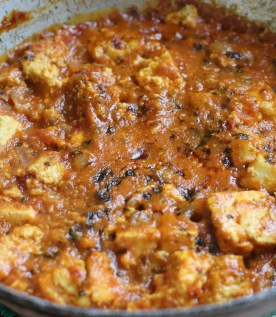 Paneer pieces cooked well in the gravy
