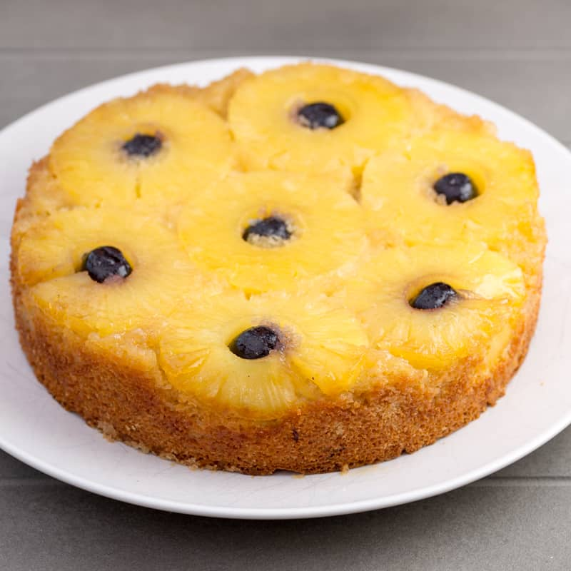 Gluten Free Pineapple Upside Down Cake - light and delicious