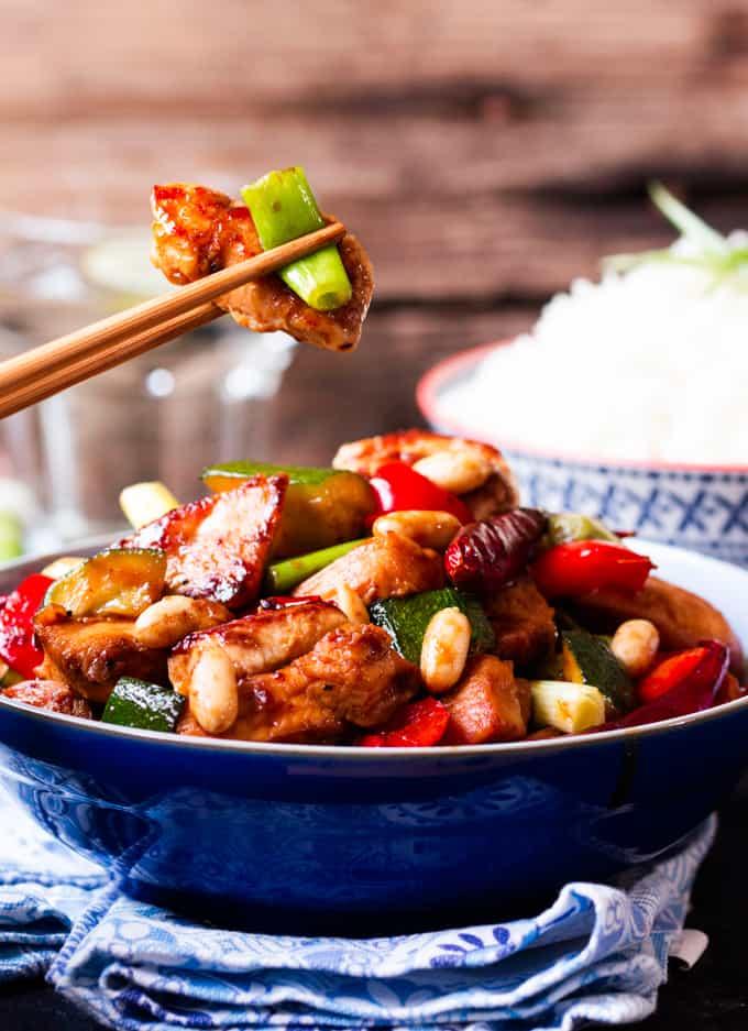 Kung Pao Chicken - Nicky's Kitchen Sanctuary