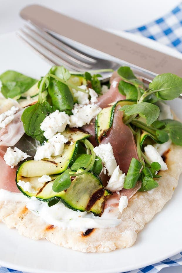 Italian inspired loaded flatbreads - a quick and healthy alternative to pizza - ready in 30 minutes.