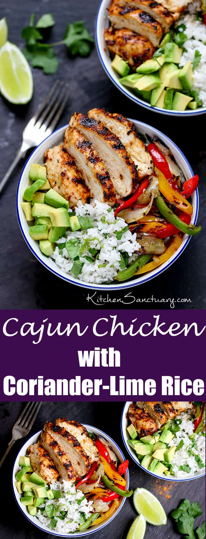Cajun Chicken with Coriander and Lime Rice Nickys Kitchen Sanctuary