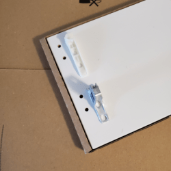 Mount the brackets as shown in the picture