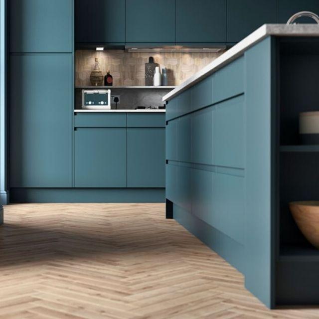 Strada Matte Marine Blue Kitchens Direct Ni