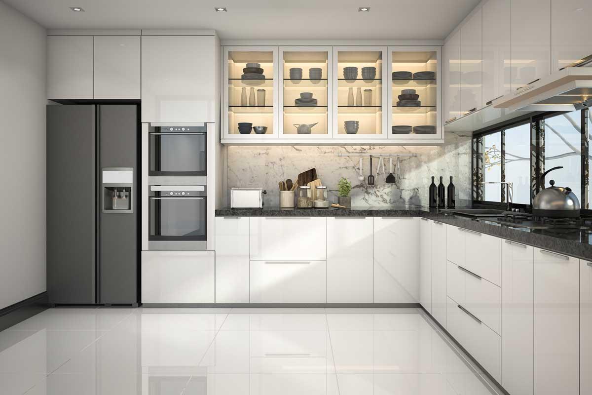 do you tile under kitchen cabinets