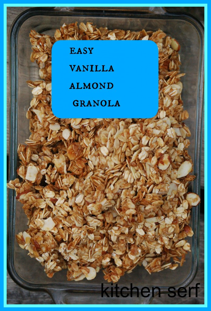 Easy Vanilla Almond Granola tastes better than any granola you can buy in the store and is a fraction of the cost of store-bought granola.