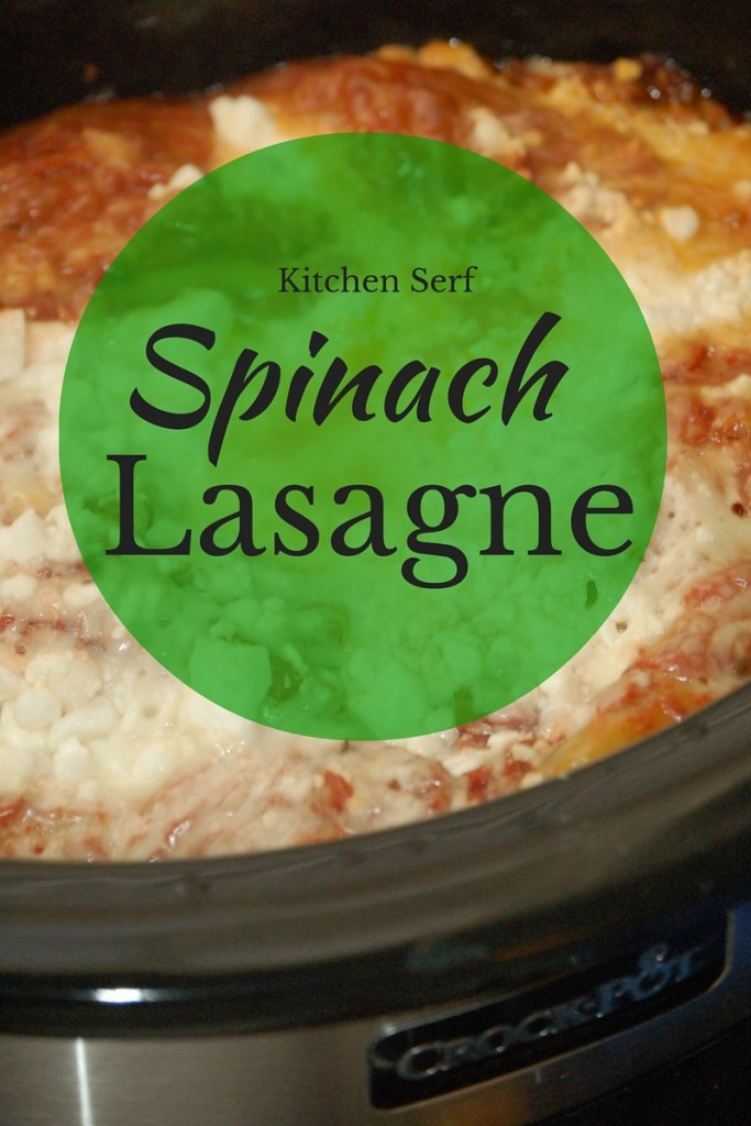Spinach lasagne, made with feta cheese and baked in a slow-cooker, is a luscious pasta dish, which takes just a few minutes to assemble and cooks all day while you're relaxing. kitchenserf.com