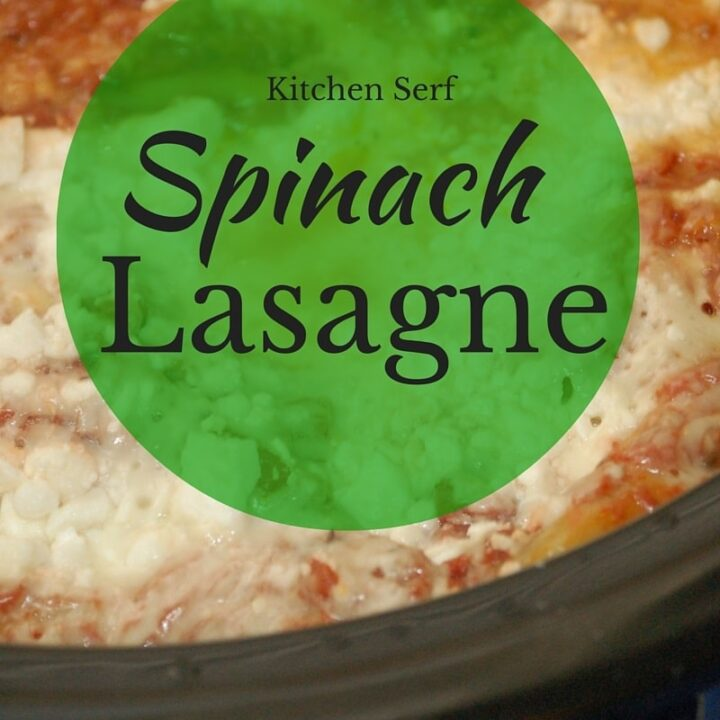pinach lasagne, made with feta cheese and baked in a slow-cooker, is a luscious pasta dish, which takes just a few minutes to assemble and cooks all day while you're relaxing. kitchenserf.com