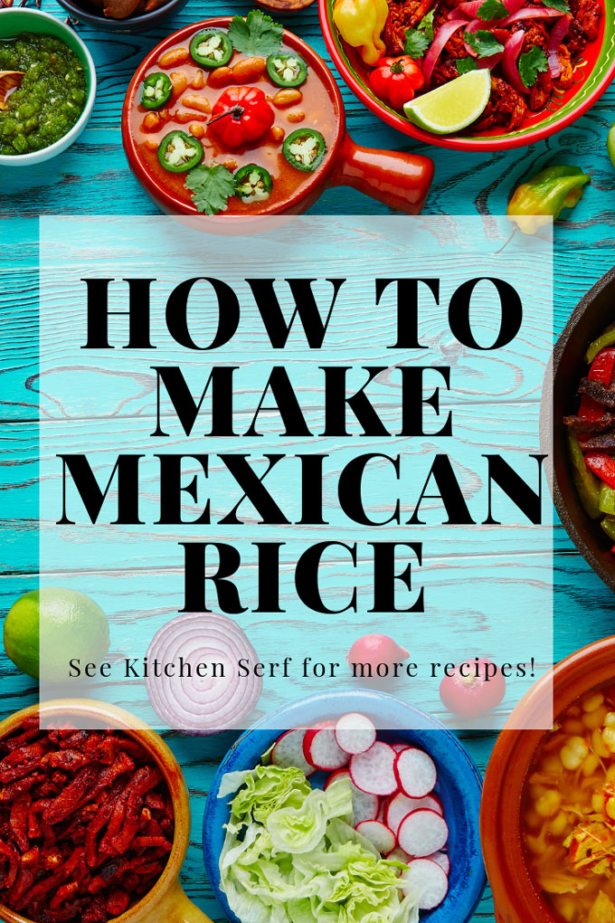 You must try my recipe for making restaurant style Mexican rice at home. It's the best side dish and so easy. #dinner #rice #Mexican