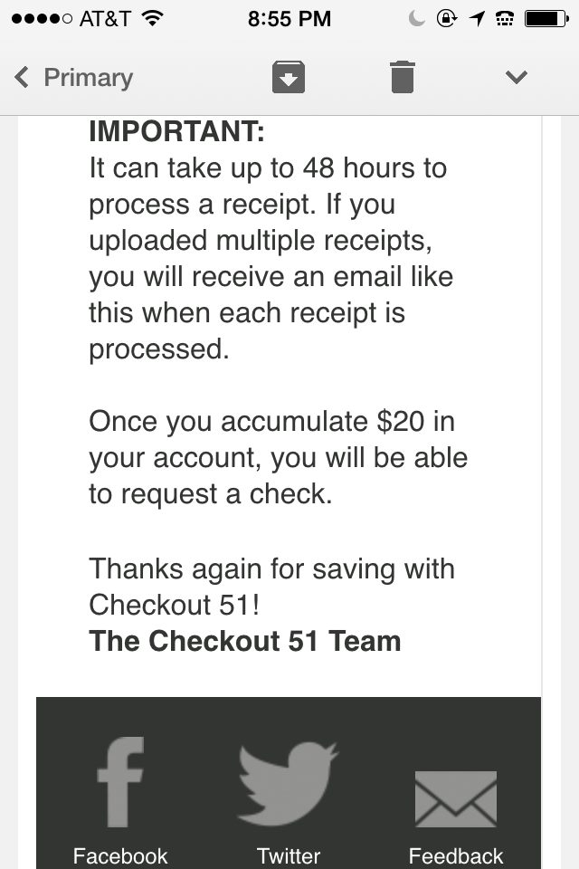 Checkout 51 Payout is $20