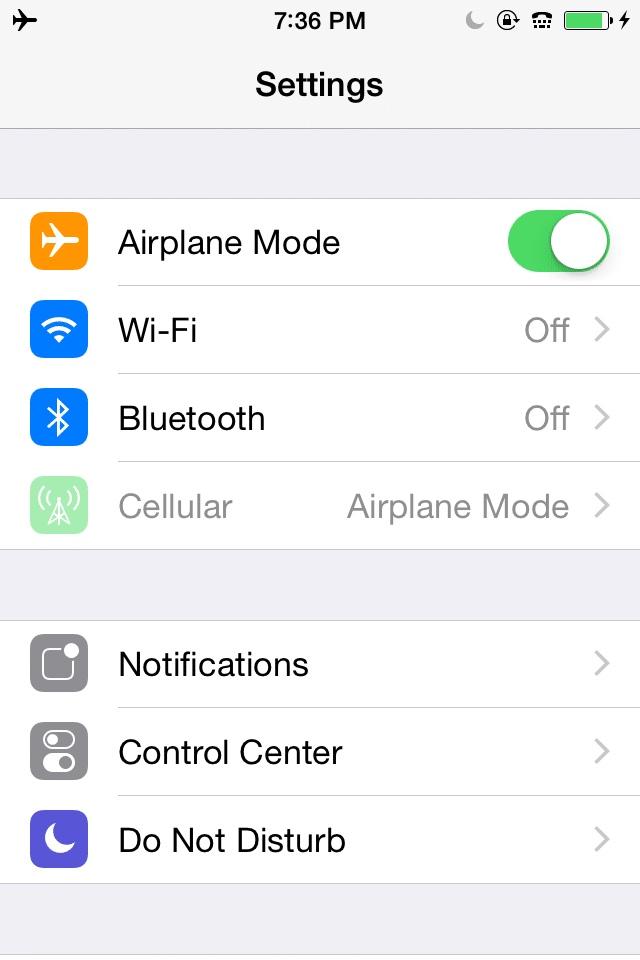 Charge your iPhone battery faster by going to settings to put it in airplane mode while it's charging.