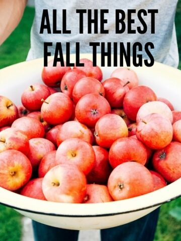 All the best fall things for you, my dear friend.
