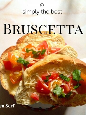 You're not living if you're not making bruschetta with your late summer bounty of tomatoes and basil.